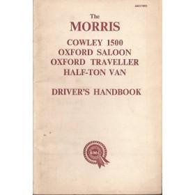 Morris Cowley/Oxford/Half-ton Van Instructieboekje   Benzine Fabrikant 60 met gebruikssporen   Engels