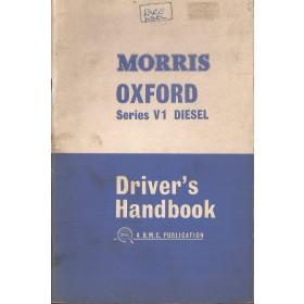 Morris Oxford Diesel Instructieboekje   Diesel Fabrikant 63 met gebruikssporen   Engels