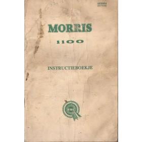 Morris 1100 Instructieboekje   Benzine Fabrikant 63 met gebruikssporen   Nederlands