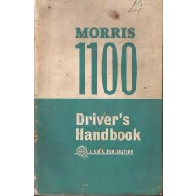 Morris 1100 Instructieboekje   Benzine Fabrikant 64 met gebruikssporen   Engels
