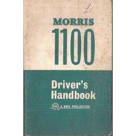 Morris 1100 Instructieboekje   Benzine Fabrikant 68 met gebruikssporen   Engels