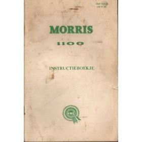 Morris 1100 Instructieboekje   Benzine Fabrikant 68 met gebruikssporen   Nederlands