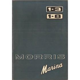 Morris Marina Instructieboekje   Benzine Fabrikant 72 met gebruikssporen   Nederlands