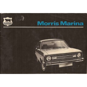 Morris Marina Instructieboekje   Benzine Fabrikant 78 met gebruikssporen vouw in kaft  Nederlands