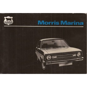 Morris Marina Instructieboekje   Benzine Fabrikant 78 met gebruikssporen   Engels