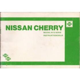 Nissan Cherry Instructieboekje  model N12 Benzine Fabrikant 82 met gebruikssporen   Nederlands