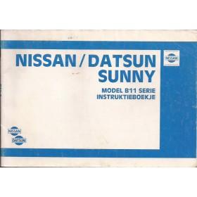 Nissan Sunny Instructieboekje  model B11 Benzine Fabrikant 82 met gebruikssporen   Nederlands