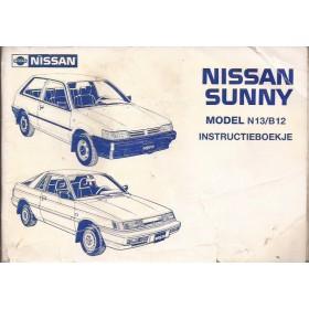 Nissan Sunny Instructieboekje  model B11 Benzine/Diesel Fabrikant 82 met gebruikssporen   Nederlands