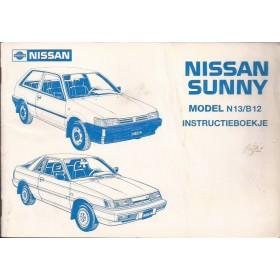 Nissan Sunny Instructieboekje  model N13/B12 Benzine/Diesel Fabrikant 86 met gebruikssporen vouwen in kaft  Nederlands