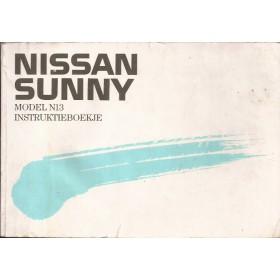 Nissan Sunny Instructieboekje  model N13 Benzine/Diesel Fabrikant 89 met gebruikssporen   Nederlands