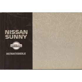 Nissan Sunny Instructieboekje  model N14 Benzine/Diesel Fabrikant 92 met gebruikssporen   Nederlands