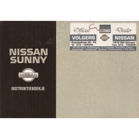 Nissan Sunny Instructieboekje  model N14 Benzine/Diesel Fabrikant 93 met gebruikssporen   Nederlands
