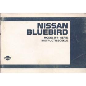 Nissan Bluebird Instructieboekje  model U11 Benzine/Diesel Fabrikant 85 met gebruikssporen   Nederlands