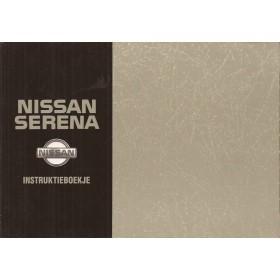 Nissan Serena Instructieboekje   Benzine/Diesel Fabrikant 95 ongebruikt   Nederlands
