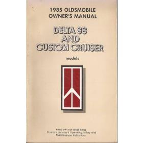 Oldsmobile Delta 88/Custom Cruiser Instructieboekje   Benzine Fabrikant 85 met gebruikssporen   Engels