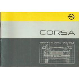 Opel Corsa A Instructieboekje   Benzine Fabrikant 85 met gebruikssporen   Nederlands