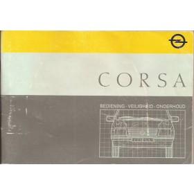 Opel Corsa A Instructieboekje   Benzine Fabrikant 87 met gebruikssporen   Nederlands