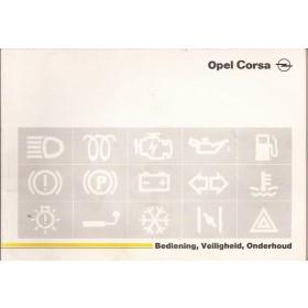 Opel Corsa A Instructieboekje   Benzine Fabrikant 89 met gebruikssporen   Nederlands