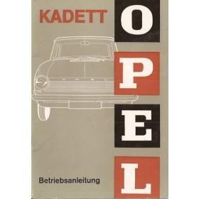 Opel Kadett A Instructieboekje   Benzine Fabrikant 65 ongebruikt   Duits