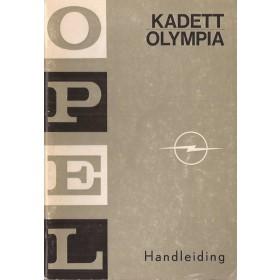 Opel Kadett B/Olympia Instructieboekje   Benzine Fabrikant 69 met gebruikssporen staand model  Nederlands