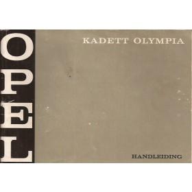 Opel Kadett B/Olympia Instructieboekje   Benzine Fabrikant 69 met gebruikssporen liggend model  Nederlands