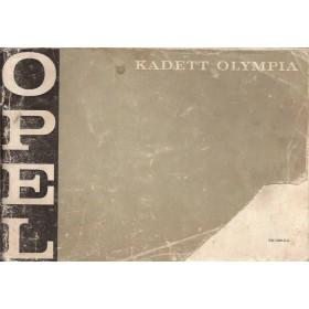 Opel Kadett B/Olympia Instructieboekje   Benzine Fabrikant 70 met gebruikssporen beschadigde kaft, hoekje van kaft  Nederlands