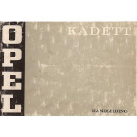 Opel Kadett B Instructieboekje   Benzine Fabrikant 72 met gebruikssporen   Nederlands