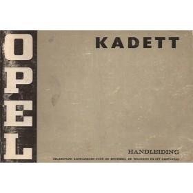 Opel Kadett C Instructieboekje   Benzine Fabrikant 73 met gebruikssporen   Nederlands
