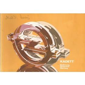 Opel Kadett D Instructieboekje   Benzine Fabrikant 79 ongebruikt   Duits