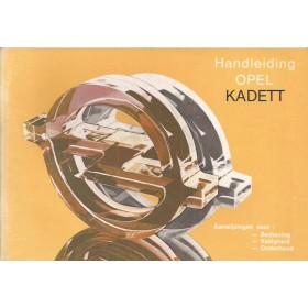 Opel Kadett D Instructieboekje   Benzine Fabrikant 83 met gebruikssporen   Nederlands