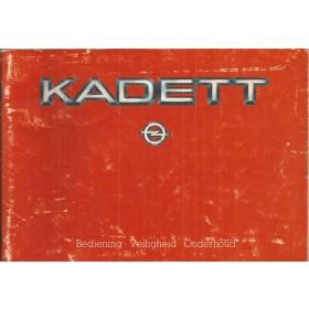 Opel Kadett D Instructieboekje   Benzine Fabrikant 84 met gebruikssporen   Nederlands