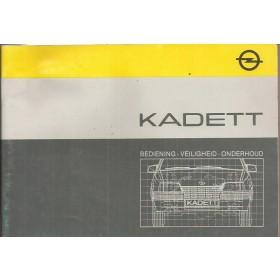 Opel Kadett E Instructieboekje   Benzine/Diesel Fabrikant 85 met gebruikssporen   Nederlands