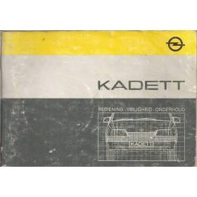 Opel Kadett E Instructieboekje   Benzine/Diesel Fabrikant 85 met gebruikssporen lichte vochtschade  Nederlands