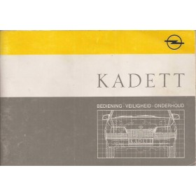 Opel Kadett E Instructieboekje   Benzine/Diesel Fabrikant 87 met gebruikssporen   Nederlands