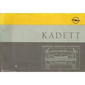 Opel Kadett E Instructieboekje   Benzine/Diesel Fabrikant 88 met gebruikssporen   Nederlands