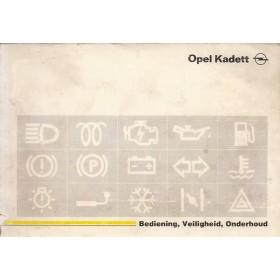 Opel Kadett E Instructieboekje   Benzine/Diesel Fabrikant 89 met gebruikssporen   Nederlands