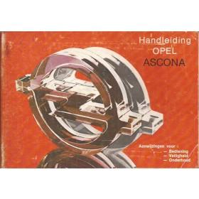 Opel Ascona C Instructieboekje   Benzine Fabrikant 81 met gebruikssporen   Nederlands