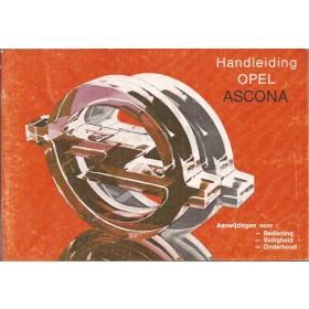 Opel Ascona C Instructieboekje   Benzine Fabrikant 83 ongebruikt   Nederlands