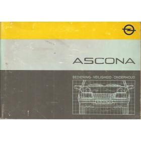 Opel Ascona C Instructieboekje   Benzine Fabrikant 85 met gebruikssporen   Nederlands