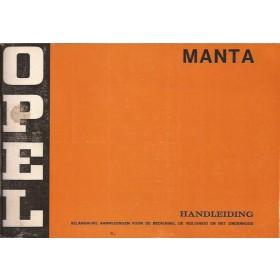 Opel Manta A Instructieboekje   Benzine Fabrikant 75 ongebruikt   Nederlands