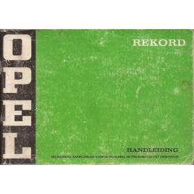 Opel Rekord C Instructieboekje   Benzine/Diesel Fabrikant 74 met gebruikssporen   Nederlands