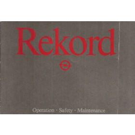 Opel Rekord E Instructieboekje   Benzine/Diesel Fabrikant 82 ongebruikt vouw in kaft  Engels