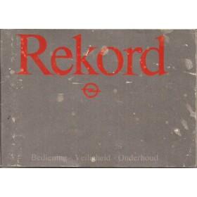 Opel Rekord E Instructieboekje   Benzine/Diesel Fabrikant 83 met gebruikssporen   Nederlands