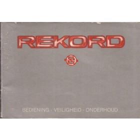 Opel Rekord E Instructieboekje   Benzine/Diesel Fabrikant 84 met gebruikssporen   Nederlands