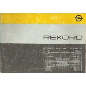 Opel Rekord E Instructieboekje   Benzine/Diesel Fabrikant 85 met gebruikssporen   Nederlands