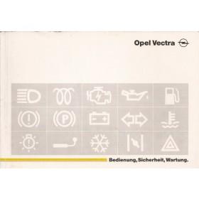 Opel Vectra A Instructieboekje   Benzine/Diesel Fabrikant 88 met gebruikssporen   Duits