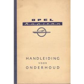Opel Kapitan Instructieboekje   Benzine Fabrikant 57 ongebruikt   Nederlands