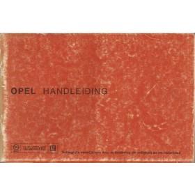 Opel Kadett C/Ascona B/Manta B/Rekord D Instructieboekje   Benzine Fabrikant 76 met gebruikssporen beschadigde kaft  Nederlands