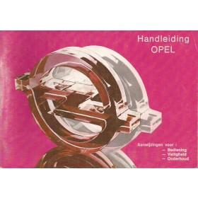Opel Kadett C/Ascona B/Manta B/Rekord E Instructieboekje   Benzine Fabrikant 79 ongebruikt roze kaft  Nederlands
