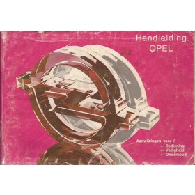 Opel Kadett C/Ascona B/Manta B/Rekord E Instructieboekje   Benzine Fabrikant 79 met gebruikssporen roze kaft, lichte vochtschade  Nederlands